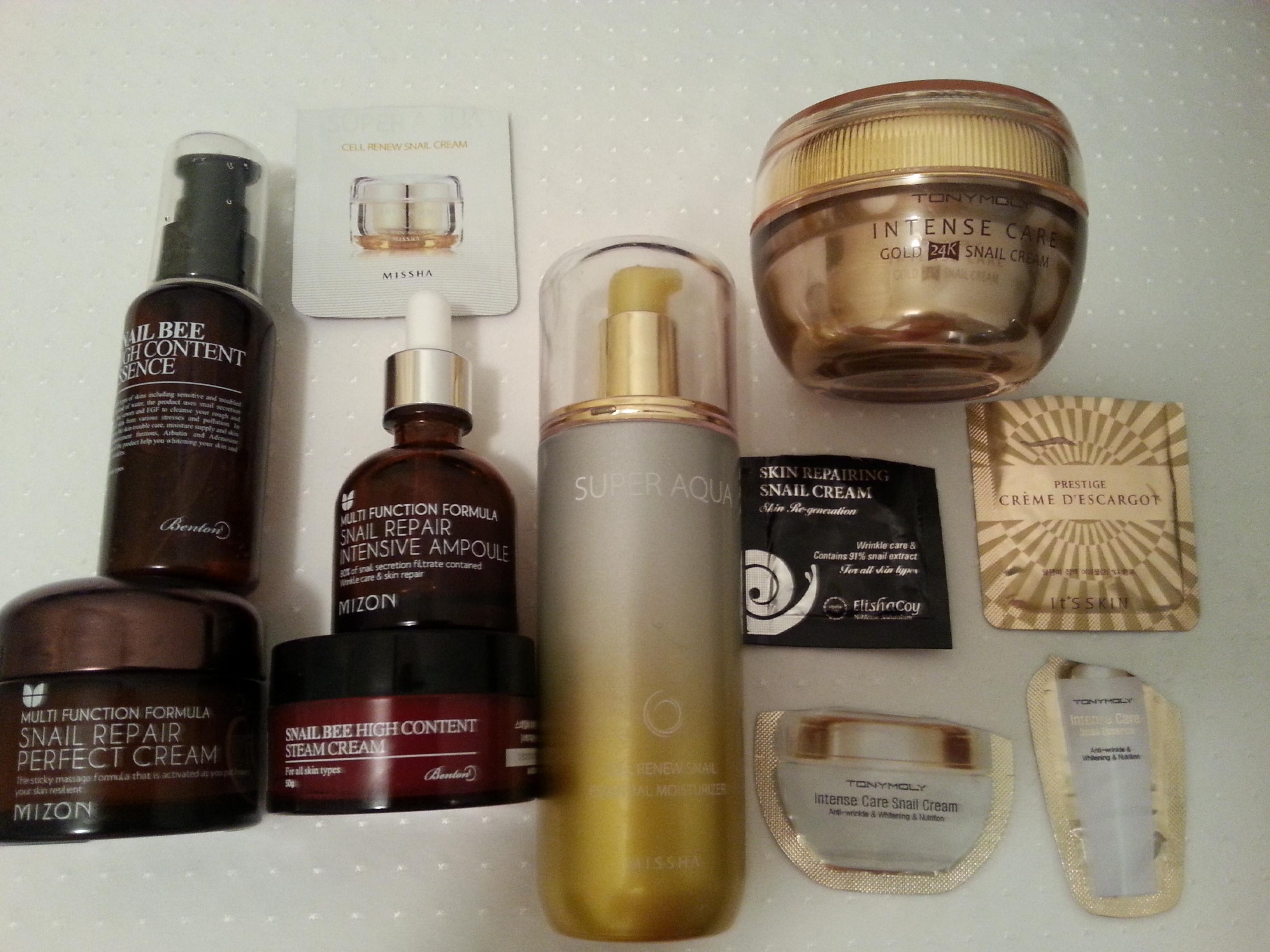 Korean Snail Products-Part 1: Tony Moly. Missha. Mizon. Its Skin ...